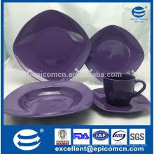 Популярная посуда для посуды OEM, набор посуды из фарфора с твердым покрытием