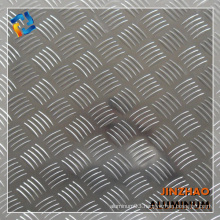 chinese aluminum manufacturer Emboss aluminum plates with 5 big bars for anti-slipping