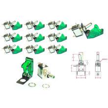 12V 20A Green Cover LED Light Rocker Toggle Switch Spst on/off Car Motor