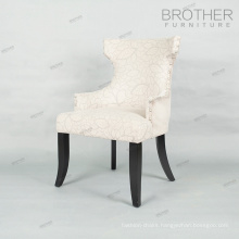 Upholstered colorful fabric modern italian white dining chair