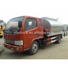 Um e meio táxi Dongfeng mini 3ton asfalto pulverização, 4x2 caminhões asfalto venda