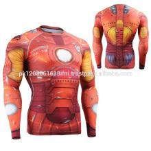 Iron Man Printed Super Hero Schnelltrocknende Kompressionsbekleidung Rashguard