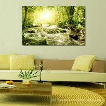 Impresión moderna de imágenes de árboles sobre lienzo de poliéster