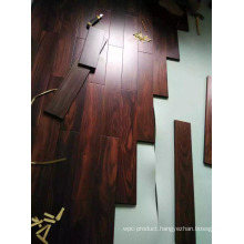 Field Installation for The Indonesia Rosewood Solid Flooring