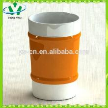Heißer Verkauf orange Perlenglasurhandbecher mit kreativem Entwurf