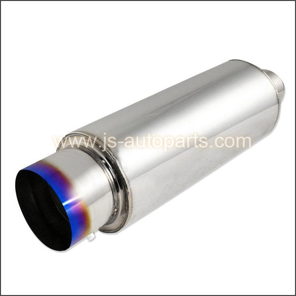 4INCH OUTLET BURN TI UNIVERSAL MUFFLER 2.5INCH INLET N1 STYLE
