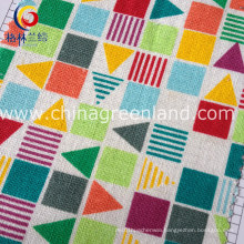 10s Cotton Linen Printing Fabric for Bags Textile (GLLML126)
