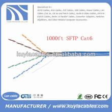 Blue 305m / 1000ft Foil y cable trenzado Cat6 Sftp