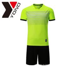 Jersey de fútbol llano personalizado su logotipo Jersey de fútbol