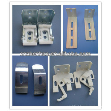 Metal curtain wall bracket or installation bracket and Ceiling clip for curtain track/rail/tube/rod-Curtain accessory