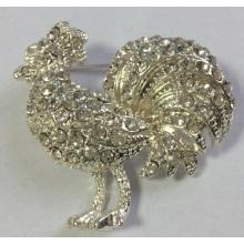 Elegante Hahn Tier Brosche mit Metall