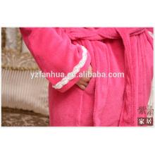 Китай завод для женщин халат с белым кружевом рукав манжеты