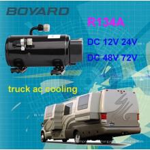 Compresseur de climatiseur 12v dc pour voitures par moteur électrique, type universel, compresseur électrique à moteur électrique