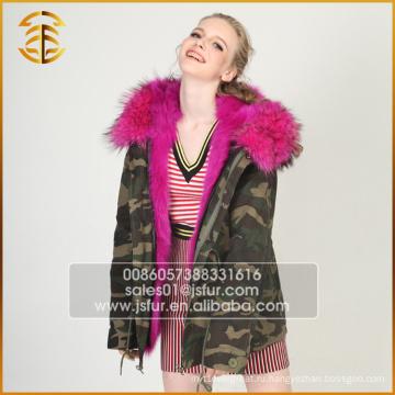2017 Горячий продавая дешевый зимний с капюшоном Raccoon Real Fur Parka
