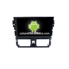 Горячая!10.1 дюймов полный сенсорный экран автомобиля DVD для системы Android Тойота vios