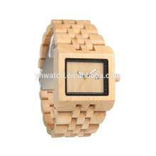 bambu saudável e natural artesanal relógio barato relógio par relógio