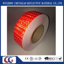 Cinta de seguridad de advertencia reflexiva de PVC Honey Comb Crystal