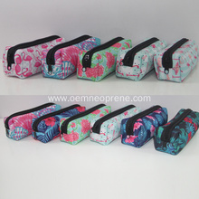 Large capacity school kids neoprene pencil cases