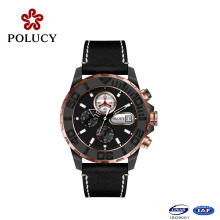 Multi-Function Watch for Men with Leather Band