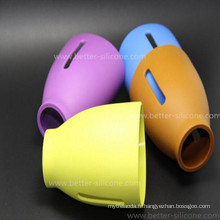 Douille sans coutume de bouteille en verre de bébé de silicone d'isolation thermique de BPA