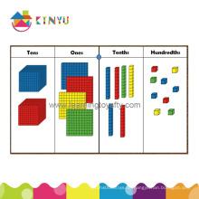 Montessori Plastic Decimal Materials / Base Zehn Blocks (K001)