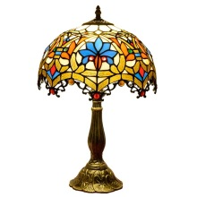 Lámpara de mesa de vidrio clásica