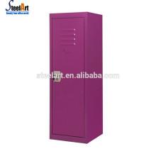 Rangement de vêtements petit armoire en acier coloré pour enfants