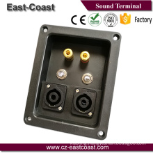 "binding post speaker terminal box with 2x 1/4"" jack and 2Xspeakon jack"
