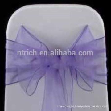 billig Großhandel heißen Verkauf Stuhl Haube/Fancy lila Organza Stuhl Schärpe/Stuhl-Schärpe für Hochzeit Bankett hotel