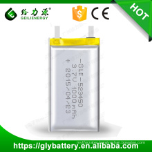 GLE-523450 Li-polymer Rechargeable Battery 3.7V 1000mAh