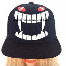 Casquillo urbano hermoso del hip-hop de la impresión del sombrero