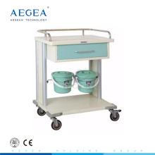 Carros de lavandería AG-MT029 para hospitales con cuatro lujosas ruedas silenciosas