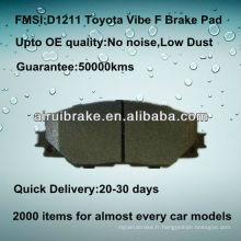 Pièces de frein semi-métalliques D1211 pour Toyota Vibe