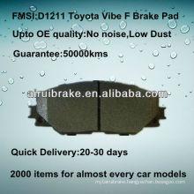 D1211 semi-metallic brake parts for Toyota Vibe