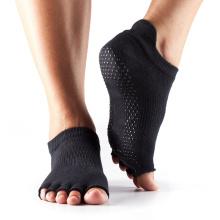 Bas coupe avec cinq chaussettes de saut de trampoline d'orteil antidérapant cinq chaussettes d'orteil