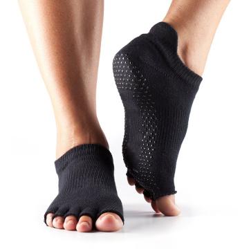 Baixo corte com cinco pés de trampolim salto meias não-deslizamento cinco dedo do pé meias