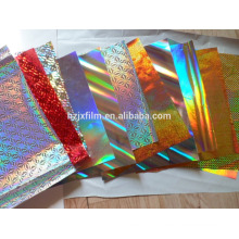 holographic film for cosmetics gift