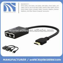 HDMI über CAT5e / CAT6 Cables Extender Verlängert bis zu 98FT HD über RJ45 Kabel