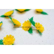 Flores plásticas artificiais decorativas baratas do crisântemo para o restaurante