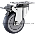 Serie de acero inoxidable - TPR Caster (Round Rim)