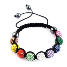 MultiColor Shamballa Bracelet With Resin Crystal Beads BR30