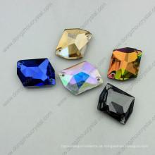 Pedras de vidro colorido costurar em vestuário (dz-3070)