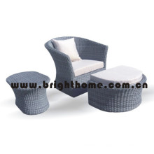 Leisure Sofa with Footrest Wicker Garden Furniture Bp-216