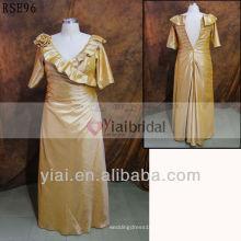 RSE96 V Neck Plus Size Mãe dos vestidos de noiva