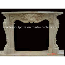 Factory Cheap Sale Natural Stone Marble Fireplace (SY-MF154)
