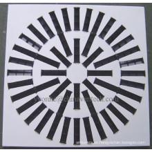 Difusor de remolino de cuchillas ajustables de difusor de aire cuadrado de fabricante chino