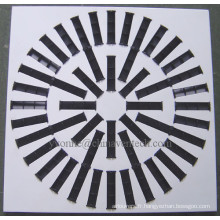 Diffuseur d'air carré du fabricant chinois diffuseur à lames réglables
