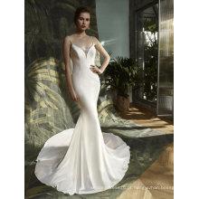 Mermaid Satin Beading Evening vestido de noiva nupcial