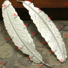Silver Metal Feather Bookmark Cadeau de promotion de style européen (BM11)