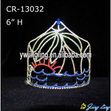 Rhinestone Crowns Tree Sun Sea Theme